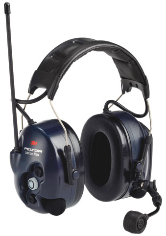 Earmuff - Headband 3M Peltor Lite-Com Plus MT7H7A4310-AZ Level Dependent 2-way Headset (CL5-32dB)