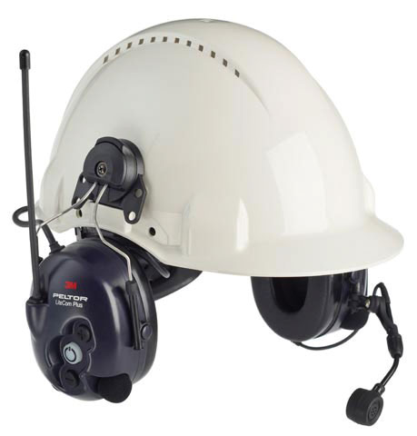 Earmuff - Cap Attachable 3M Peltor Lite-Com Plus MT7H7P3E4310-AZ Level Dependent 2-way Headset (CL5 - 27dB)