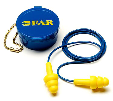 Earplug - Reusable EAR UltraFit Push In 340-4002 Corded c/w Carry Case (CL 3 - 19dB)