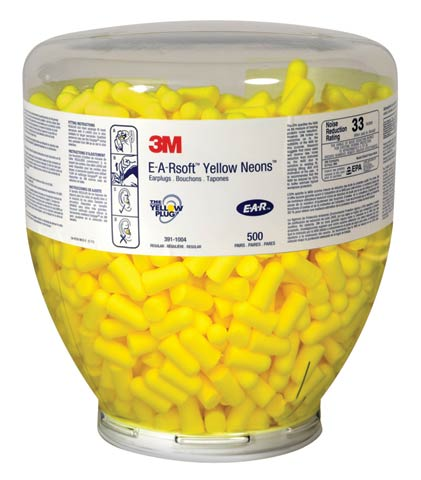 Earplug - Disposable 3M EAR 'Neons' Reg 391-1004 (CL 4 - 23dB) ONETouch Dispenser Refills