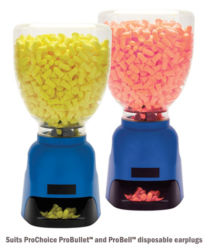 Earplug Dispenser - ProChoice Station suits ProBullet & ProBell Earplugs Blue Base c/w Clear Top