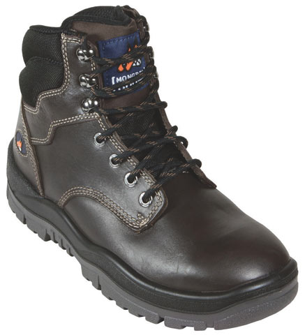 Boot - Safety Mongrel Ankle Lace-Up Padded DD TPU Sole Claret