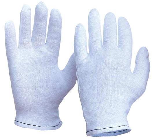 Glove - Poly/Cotton Interlock ProChoice Hemmed Cuff White - Ladies