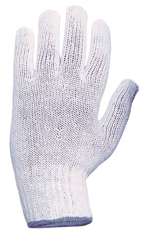 Glove - Poly/Cotton Knitted White - Womens