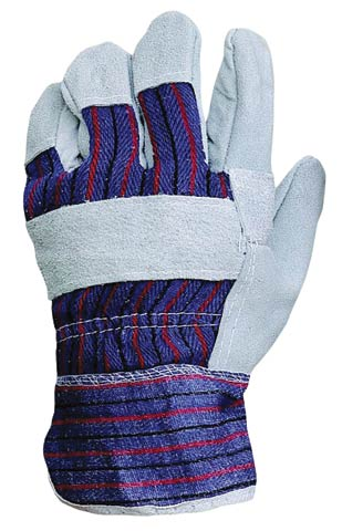 Glove - Leather ProChoice Cow Hide Palm/Stripe Cotton Back/Canvas Cuff