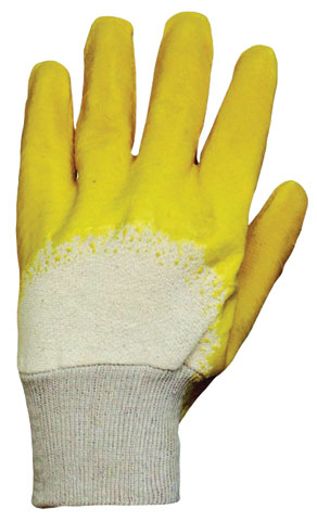 Glove - Rubber Latex ProChoice Glass Gripper Knit Wrist Yellow