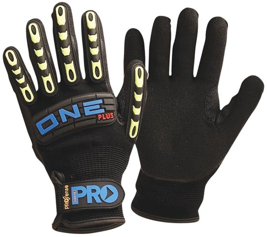 Glove - Nitrile Rubber ProSense ONE Plus AntiVibration Foam Coat Nylon Liner Rubber Back - 11