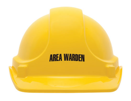 Cap - Safety ABS 3M TA560 Non-Vented (Type 1) Terylene Headgear Area Warden - Yellow