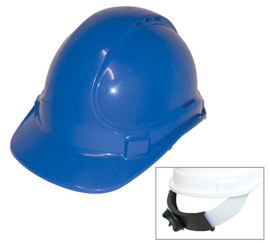 Hard Hat - Safety ABS 3M TA570 Vented (Type 1) Terylene Ratchet Headgear - Blue