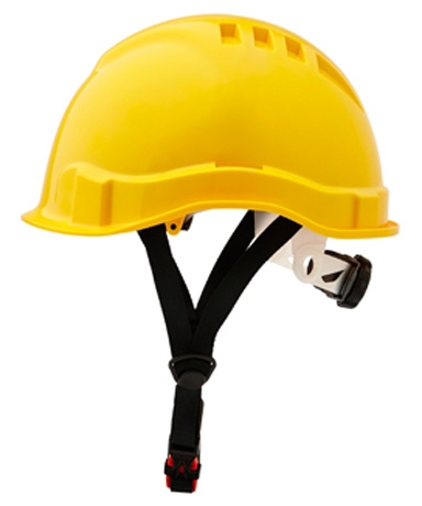 Cap - Safety ABS ProChoice Airborne Linesman Unvented Micro Peak c/w Ratchet Harness & Chin Strap - Yellow