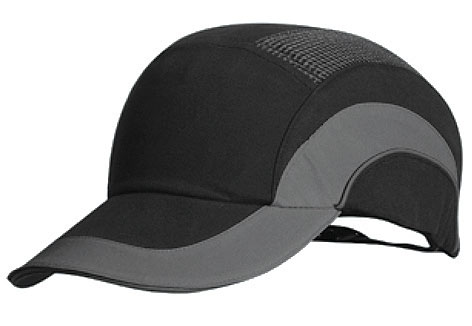 Cap - Bump ProChoice Baseball Style Cotton/Polyester c/w Padded  Inserts - Black/Grey