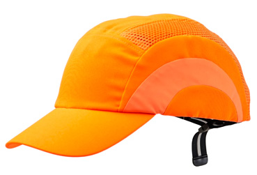 Cap - Bump ProChoice Baseball Style Cotton/Polyester c/w Padded  Inserts - Fluoro Orange