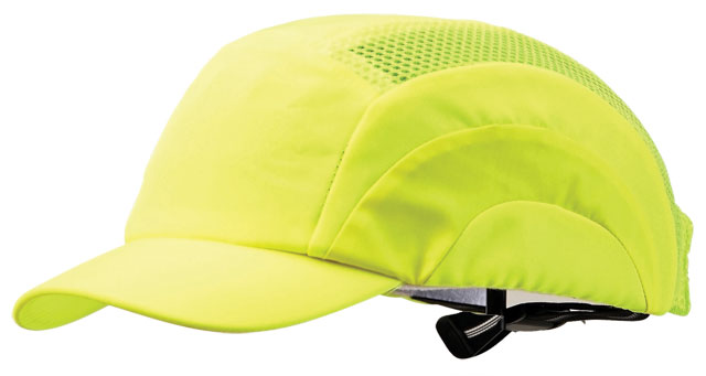 Cap - Bump ProChoice Baseball Style Short Peak Cotton/Polyester c/w Padded  Inserts - Fluoro Yellow