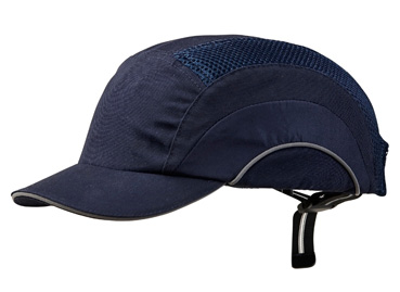 Cap - Bump ProChoice Baseball Style Short Peak Cotton/Polyester c/w Padded  Inserts - Navy