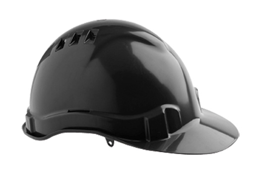 Cap - Safety ABS ProChoice V6 Vented PushLock Headgear - Black