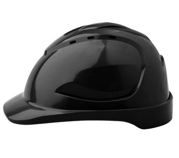 Cap - Safety ABS ProChoice V9 Vented Push Lock Headgear - Black