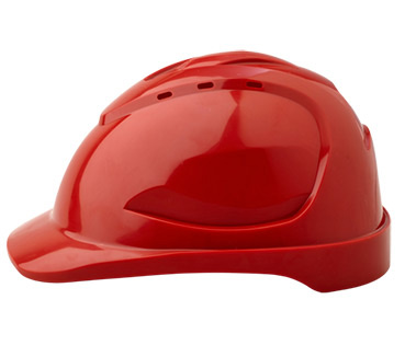Cap - Safety ABS ProChoice V9 Vented Push Lock Headgear - Red