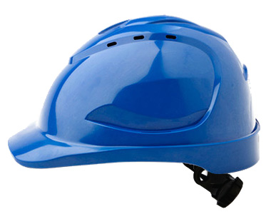 Cap - Safety ABS ProChoice V9 Vented Ratchet Headgear - Blue