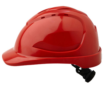 Cap - Safety ABS ProChoice V9 Vented Ratchet Headgear - Red