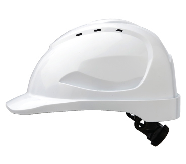 Cap - Safety ABS ProChoice V9 Vented Ratchet Headgear - White