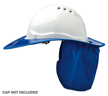 Brim - Plastic ProChoice Shade Halo c/w Neck Flap for HCV6 Hard Hat - Blue