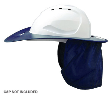 Brim - Plastic ProChoice Shade Halo c/w Neck Flap for HCV9 Hard Hat - Blue