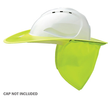 Brim - Plastic ProChoice Shade Halo c/w Neck Flap for HCV9 Cap  - Fluoro Yellow