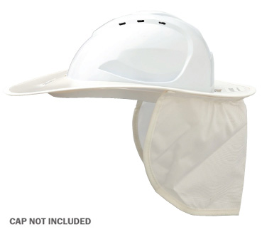 Brim - Plastic ProChoice Shade Halo c/w Neck Flap for HCV9 Cap  - White