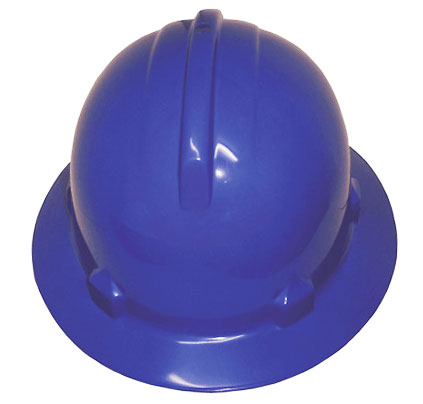 Hard Hat - Safety ABS 3M HH40 Wide Brim Non-Vented (Type 1) Terrylene Headgear - Blue