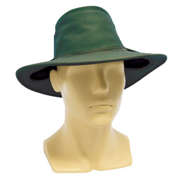 Hat - Cotton Drill Newcastle Hats Earmuff Hat Green 60-61cm - XL