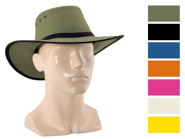 Hat - Canvas Newcastle Hats Canning Standard Black 64-65cm - 3XL