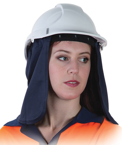 Neck Shade - Uveto Attach-A-Flap Cap/Hat Attachable Micro Mesh - Navy