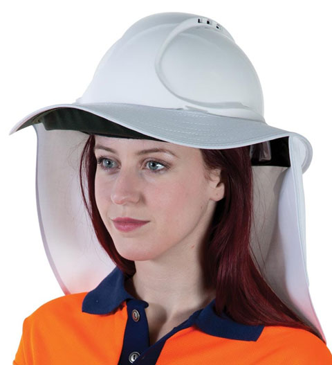 Neck Shade - Uveto Hard Hat Brim 'N Shade Poly/Cotton 50+ UPF