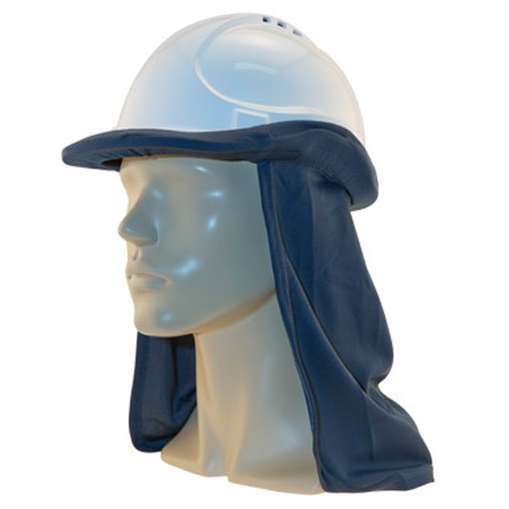 Neck Shade - Uveto Hard Hat Flap Cap/Hat Attachable Micro Mesh 50+ UPF - Navy