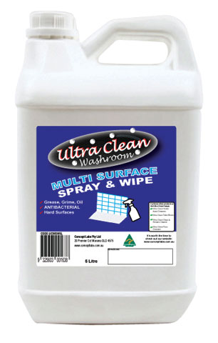 Surface Cleaner - Spray & Wipe Ultra Clean Washroom - 5L Bottle