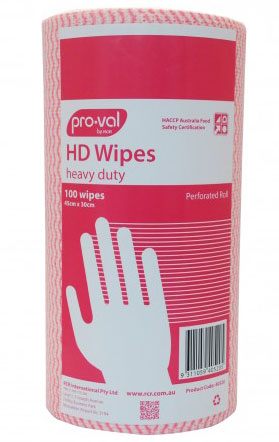 Wipes - Heavy Duty Pro-val WP 30cm x 45cm Perforated Roll