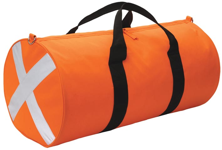 Gear Bag - Caribee Century HI VIS Round Bag c/w Reflective Tape 60cm x 30cm - Orange