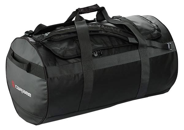 Gear Bag - PVC Caribee Kokoda Tarpaulin Bag 90L 70cm x 40cm x 40cm - Black