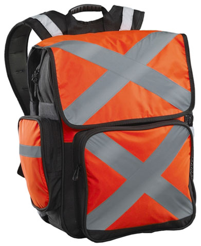Back Pack - Polyester/PVC Caribee Pilbara HI VIS c/w Tape 34L 44cm x 33cm x 24cm - Orange