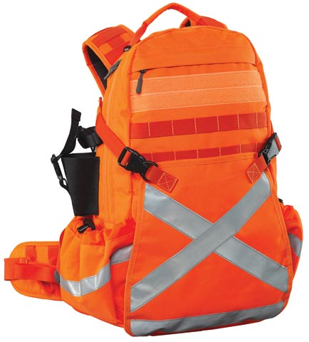 Back Pack - Heavy Duty Caribee Mineral King  HI VIS c/w Tape 32L 50cm x 32cm x 20cm - Orange
