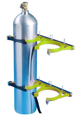 Cylinder Restraint - Galvanised for 2 Bottle 100-145mm - Yellow