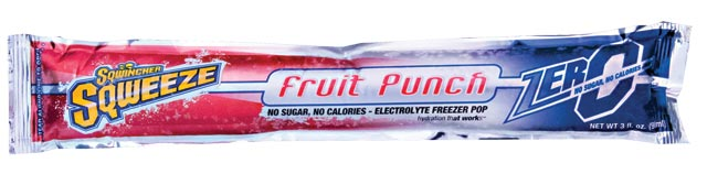 Electrolyte Drink - Sqwincher Sqweeze Pops Sugar Free - Fruit Punch