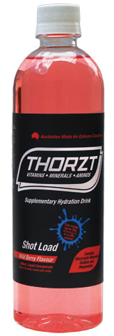 Electrolyte Drink - Thorzt Low GI Shot Load Liquid Concentrate 600ml Bottle (makes 10L) - Wild Berry