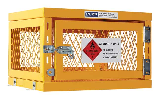 Locker - Aerosol Storage Cage Pratt  990mm (H) x 780mm (W) x 760mm (D) - 200 Can Capacity