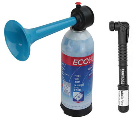 Air Horn - Eco Blast Rechargeable Alloy Signal Horn c/w Pump