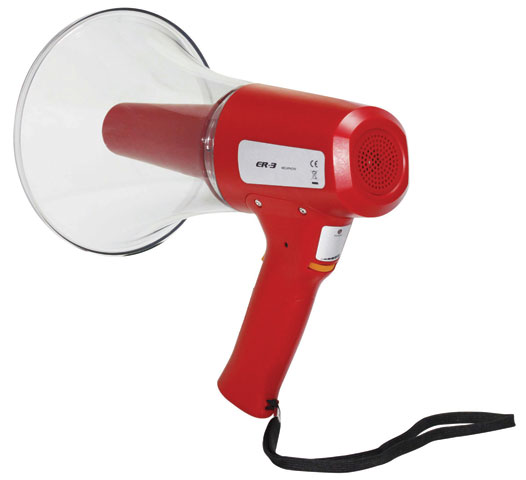 Megaphone - Emergency Evacuation Hand Held c/w Siren