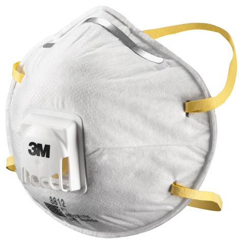 Respirator - Disposable 3M 8812 P1 c/w Valve Cone