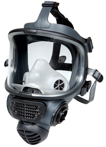 Respirator - Full Face Scott Promask Twin  - NLA - (REFER TO RFF6000 or RPF1268 FOR NEAREST EQUIVALENT) c/w Neck Strap - M/L