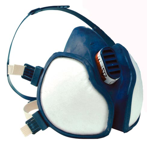 Respirator - Half Face Disposable 3M 4000 Series A1B1E1K1P2
