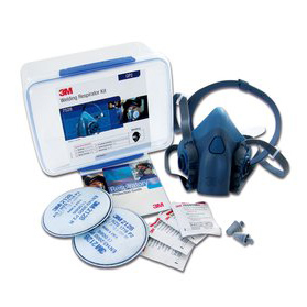 Respirator Kit - Half Face Welding 3M 7528 Starter Kit c/w RHF7500 & GP2 Filters - M